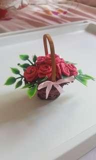 Mini Basket of Roses