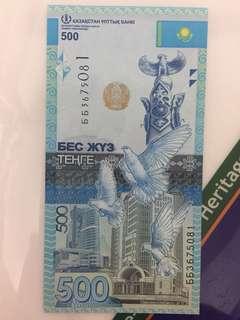 Kazakhstan 2017- 500 Tenge gem unc 哈薩克500