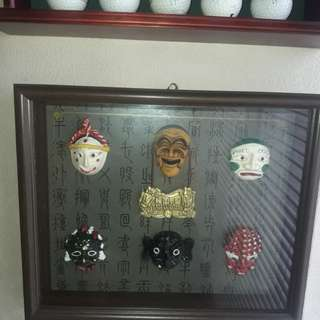 Authentic Korean Masks wall decor