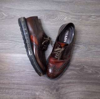 Prada mens brogue shoe