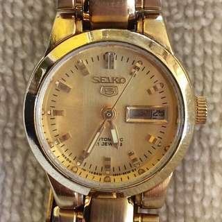 Seiko 5 Automatic 21 Gold