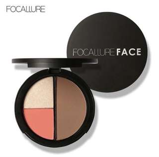 FOCALLURE 3in1 compact highlighter,contour,blush