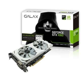 GALAX GeForce® GTX 1060 EX OC White 6GB