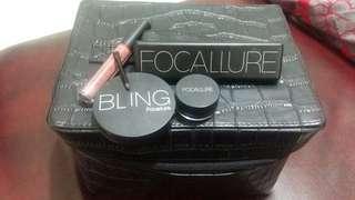 (Free ongkir) promo set make up focallure dan tas make up