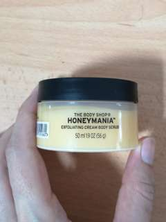 The body shop honeymania body scrub 50ml