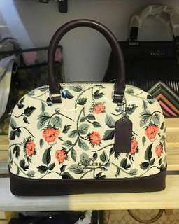 Coach Mini Sierra Satchel with Cross Stitch Floral Print
