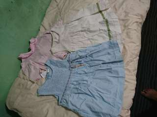 Little Bitty Ternos and Dress 0-9 months