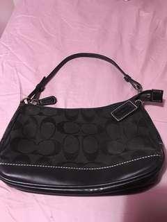Mini black coach purse