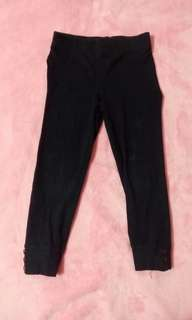 Carters girls black leggings