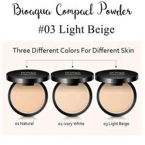 Light beige -bioaqua bedak padat professional compact powder
