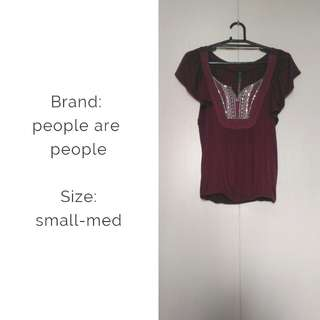 People are people violet blouse