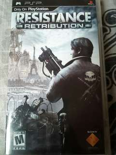 Resistance -Retribution- PSP