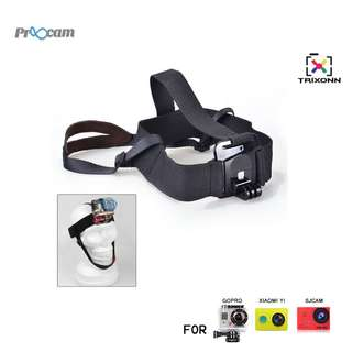 Proocam Pro-J090 Light Weight Chins Head Belt for Gopro Hero , SJCAM , Mi YI