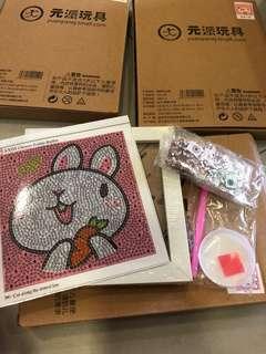 🚚 Set of 3- unicorn zodiac pig and rabbit DIY diamond painting