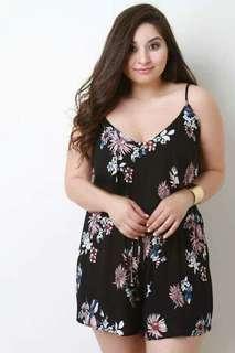 U.S Plus size floral Jumpsuit