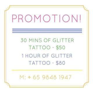 Kids Birthday Party - Glitter Tattoo
