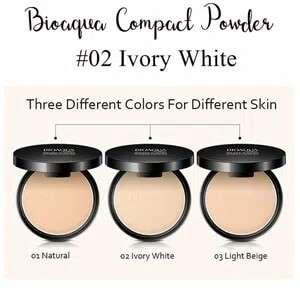 Ivory white 02 - bioaqua bedak padat professional compact powder