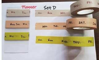 Planner Washi samples Set D