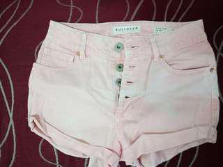 high waist short light peach size 26
