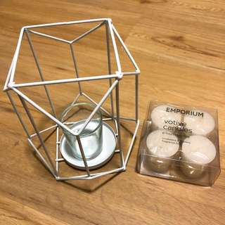 BN Candle Holder with pack of 4 Candles