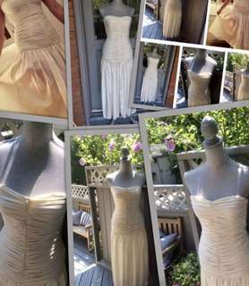 REDUCED PRICE!!!!🙂✨✨Holt Renfrew beautiful classic cream dress in a size 6 (small fitting,more like 4)✨