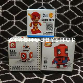 Spiderman, Flash and BB-8 set