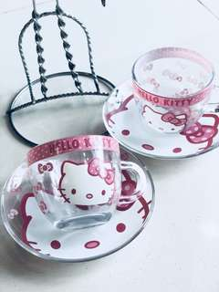 Hello kitty Coffee Tea cup and Saucers set (Brand new)