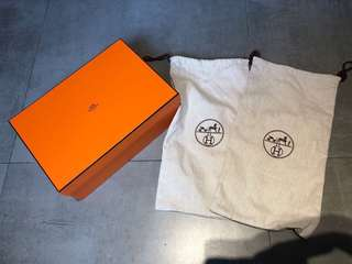 Hermes Shoe Box with Dust Bag 鞋盒連一對鞋袋