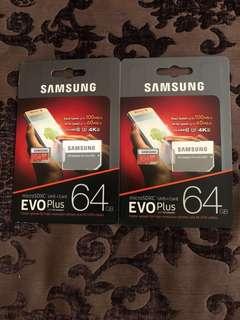 Brand New Samsung Evo Plus 64GB(sealed)