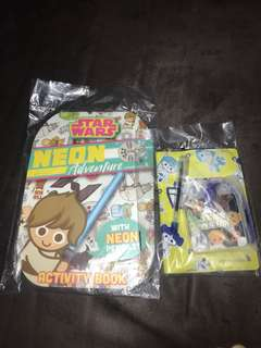 Star Wars Activity book and passport cover and luggage tag