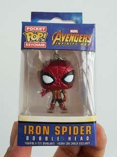 Iron Spider Bobble-Head Funko Pop! Keychain Avengers Infinity War