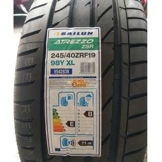 245/40/19 賽輪 ZSR 高CP RFT 失壓續跑胎 高耐磨拼經濟 庫存出清 售完為止 優惠價私訊確認