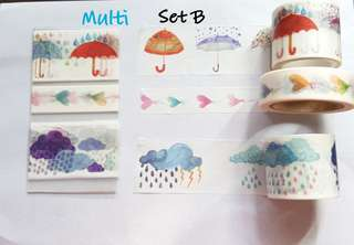 Multi Washi Samples Set B