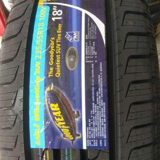 235/55/18 固特異 德國製 EFG SUV 頂級舒適休旅車輪胎 大放送特惠價 私訊確認 7月限定
