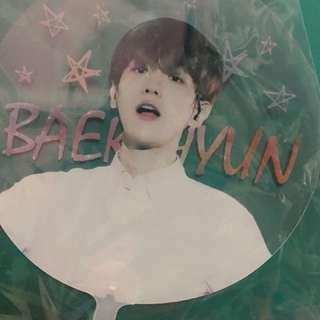 baekhyun/sehun transparent fan