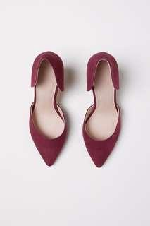 H&M Burgandy Heels