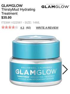 Glam glow hydration face mask