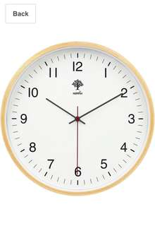 157• HIPPIH Silent Wall Clock - 8 Inch Non Ticking Digital Quiet Sweep Decorative Vintage Wooden Clocks, White
