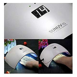SUNUV SUN9S 24W LED UV Nail Dryer Lamp for Gels Based Polishes with LCD Automatic Sensor(White)7