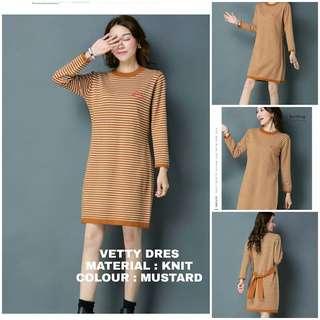 JN - 0418 - Outwear Sweater Rajut Dress Vetty
