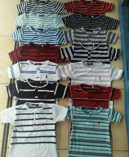 POLO BUTTON TEE STRIPE