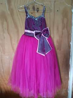 KIDS PURPLE GOWN