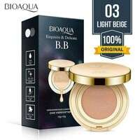 +REFIL ISI 2 (NO 01) box hitam bioaqua bb cushion exquisite & delicate