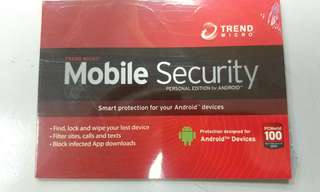 Trend Micro Mobile Security Personal Edition For Android ( 1 Year Subscription )