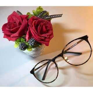 玳瑁色梨形TR90眼鏡(D18)