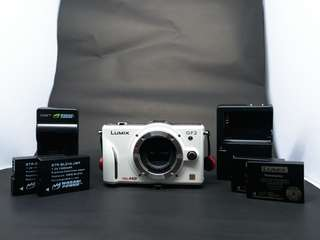 Lumix GF2 Body with 4 Batteries (RUSH)