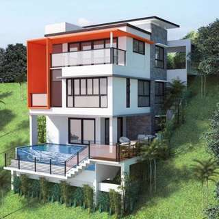 House and lot with own swimming pool for sale in talisay city cebu