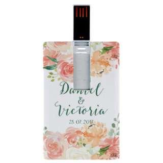 Personalized USB Flashdrive Thumbdrive Floral Wreath Christian Bible Verse