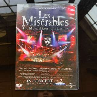 Les Miserables in Concert DVD