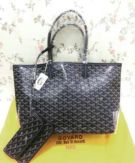 GOYARD ST LOUIS MM NAVY BLUE WITH DUSTBAG AND CARDS